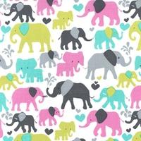 Tissu Elephant walk coloris orchid 20 x 110 cm