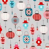Tissu Lanternes coloris Sweet 20 x 110 cm