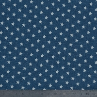 Jean denim étoiles fond bleu 20 x 150 cm