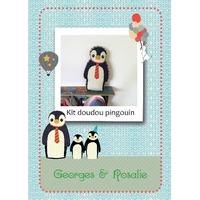 Kit à coudre Doudou Pingouin par Georges et Rosalie