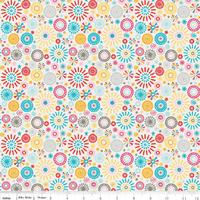 Tissu Girl Crazy Fleurs 20 x 110 cm