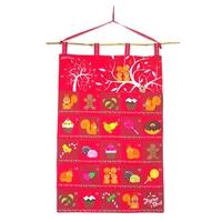 Kit à coudre calendrier de l'avent rouge par Latcho Drom