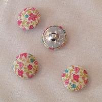 Bouton recouvert de tissu Liberty Helena's meadow rose 28 mm - vendu à l'unité