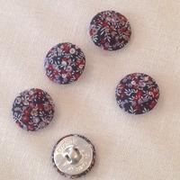 Bouton recouvert de tissu Liberty Wilmslow Berry automne 28 mm - vendu à l'unité