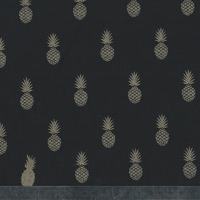 A nana's fabric GOLD, poly/coton réglisse 20 x 140 cm