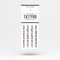 2 planches de tatouages Garland by Mini Labo