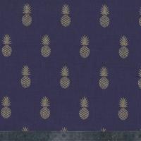 A nana's fabric, poly/coton prune 20 x 140 cm