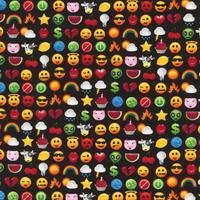DERNIER COUPON Tissu Smiley Crush 80 x 110 cm