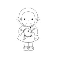 Emilie à colorier, lot de 4 poupées de 16 cm de haut