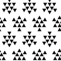 Jersey triangles noirs fond blanc 20 x 140 cm