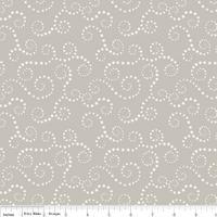 Tissu Oh boy ! volutes coloris gray 20 x 110 cm
