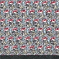 DERNIER COUPON Liberty Ten/six fleur rouge coloris A 70 X 137