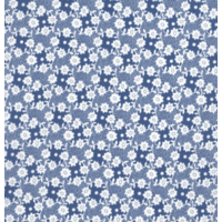 DERNIER COUPON Liberty Millie bleu 45 x 137 cm