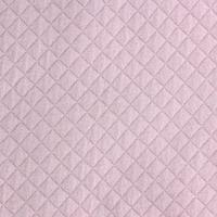 DERNIER COUPON Jersey matelassé FDS rose pâle 70 x 130 cm