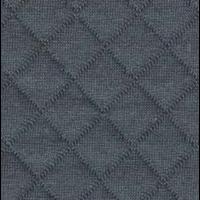 Jersey matelassé FDS gris foncé 20 x 130 cm
