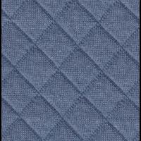 Jersey matelassé FDS bleu 20 x 130 cm
