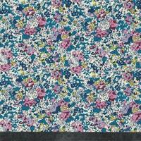 Liberty Claire Aude turquoise et rose coloris A 20 x 137 cm