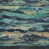 DERNIER COUPON Liberty Manning bleu coloris A 65 x 137 cm