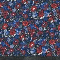 Liberty Manuela rouge et bleu 20 x 137 cm