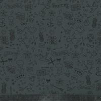 Tissu Tatouée pour la journée, gabardine stretch gris foncé 20 x 135 cm