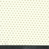 Popeline mini étoiles dorées fond crème 20 x 140 cm