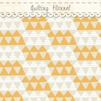 DERNIER COUPON Tissu flanelle Happy Camper triangles  55 x 110 cm
