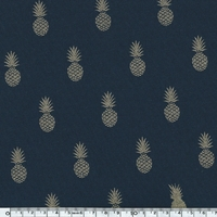 A nana's fabric, molleton marine, 20 x 140 cm