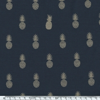 A nana's fabric, jersey coton marine, 20 x 140 cm