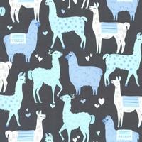 Tissu lamas coloris blue 20 X 110 cm