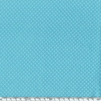 Jersey matelassé mini croisillons coloris turquoise 20 x 140 cm