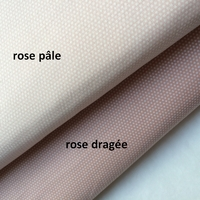 Tissu petits pois fond rose dragée 20 x 140 cm