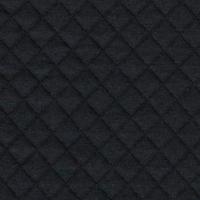 Jersey matelassé FDS noir 20 x 130 cm