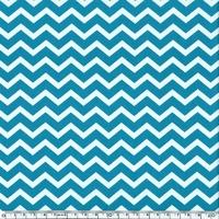 Tissu chevron turquoise 20 cm x 140 cm