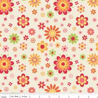 Tissu Just Dreamy grandes fleurs 20 x 110 cm