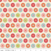 Tissu Just Dreamy rosaces 20 x 110 cm