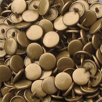 30 pressions KAM résine rondes taille 20 coloris or/bronze