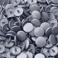 30 pressions KAM résine rondes taille 20 coloris gris argent