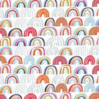 Tissu Rain or Shine ? Arc-en ciel 20 x 110 cm
