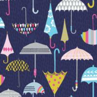 Tissu ENDUIT Rain or Shine ? Parapluies 20 x 150 cm