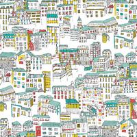 Tissu Street life Ville 20 x 110 cm