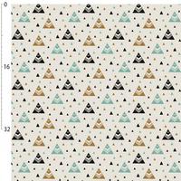 Jersey chevrons triangles doré et menthe 20 x 160 cm