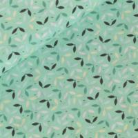 Popeline Tree Topping vert clair 20 x 140 cm