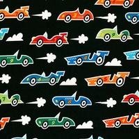 DERNIER COUPON Tissu Speed racing 30 x 110 cm