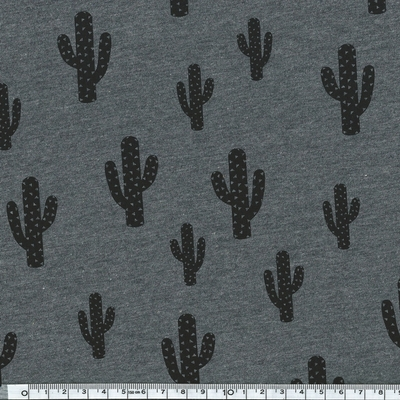 cactus jersey gris chiné