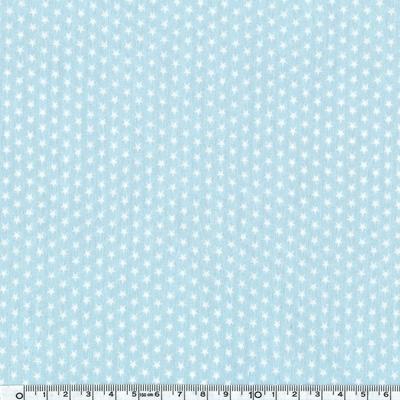 popeline mini étoiles blanches fond bleu