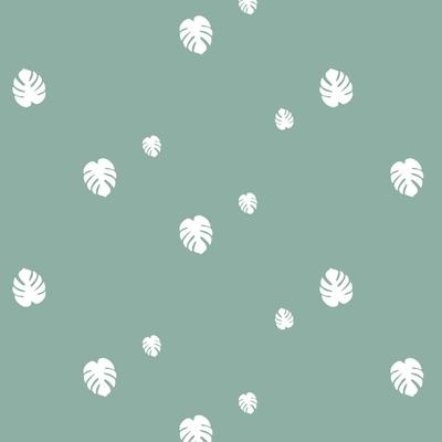 PolyCoton-menthe glacée_Monstera