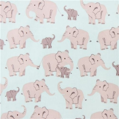 aqua-cute-grey-elephant-laminate-fabric-by-Robert-Kaufman-USA-207076-1