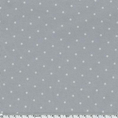 4144-17 jersey mini étoiles blanches fond gris