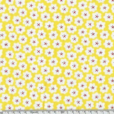 coton fleur pop jaune