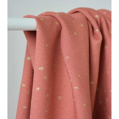 tissu-crepe-de-viscose-golden-flowers-eglantine